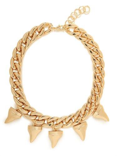 Gold Shark Teeth Necklace