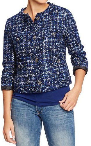 Women's Metallic-Boucle Jackets