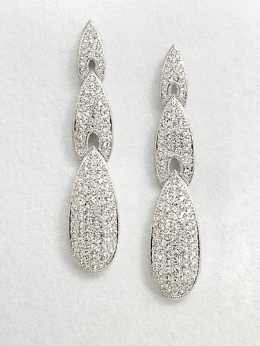 Adriana Orsini Crystal Encrusted Triple Arrow Drop Earrings