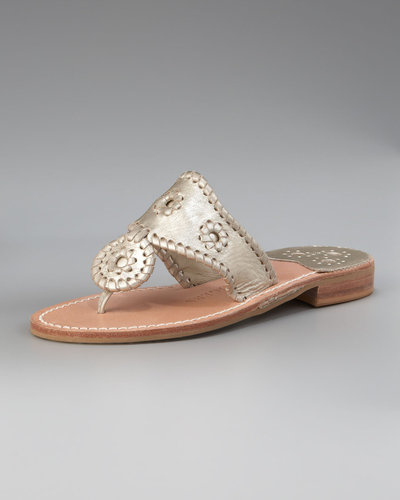 Jack Rogers Hamptons Whipstitched Thong Sandal