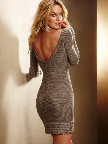 Lurex® Sweaterdress with Ruffle Hem