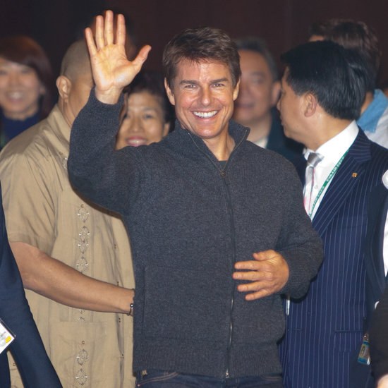 Tom Cruise Leaving London in a Helicopter | Pictures
