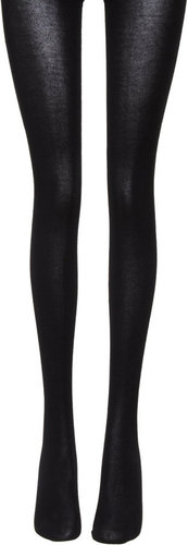 Wolford Cotton Velvet Tights - Deluxe Black
