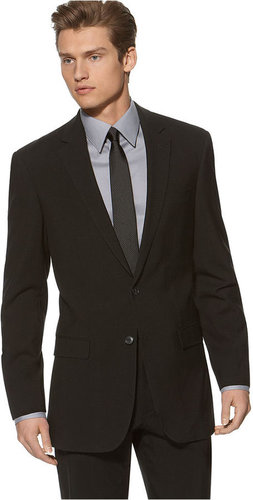 Kenneth Cole New York Suit, Black Solid Slim Fit