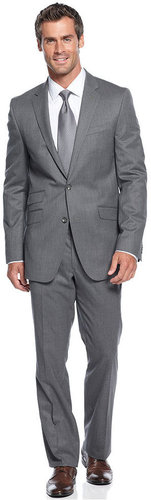 Kenneth Cole New York Suit, Black Label Grey Slim Fit