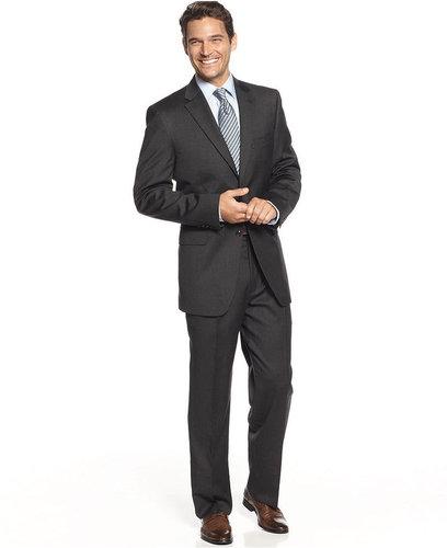 Jones New York Suit, 24/7 Charcoal Solid
