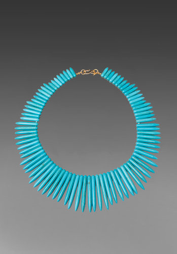 Kenneth Jay Lane Kenneth Jay Lane Turquoise Spike Necklace