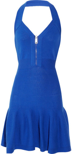 McQ Alexander McQueen Knitted cotton halterneck dress