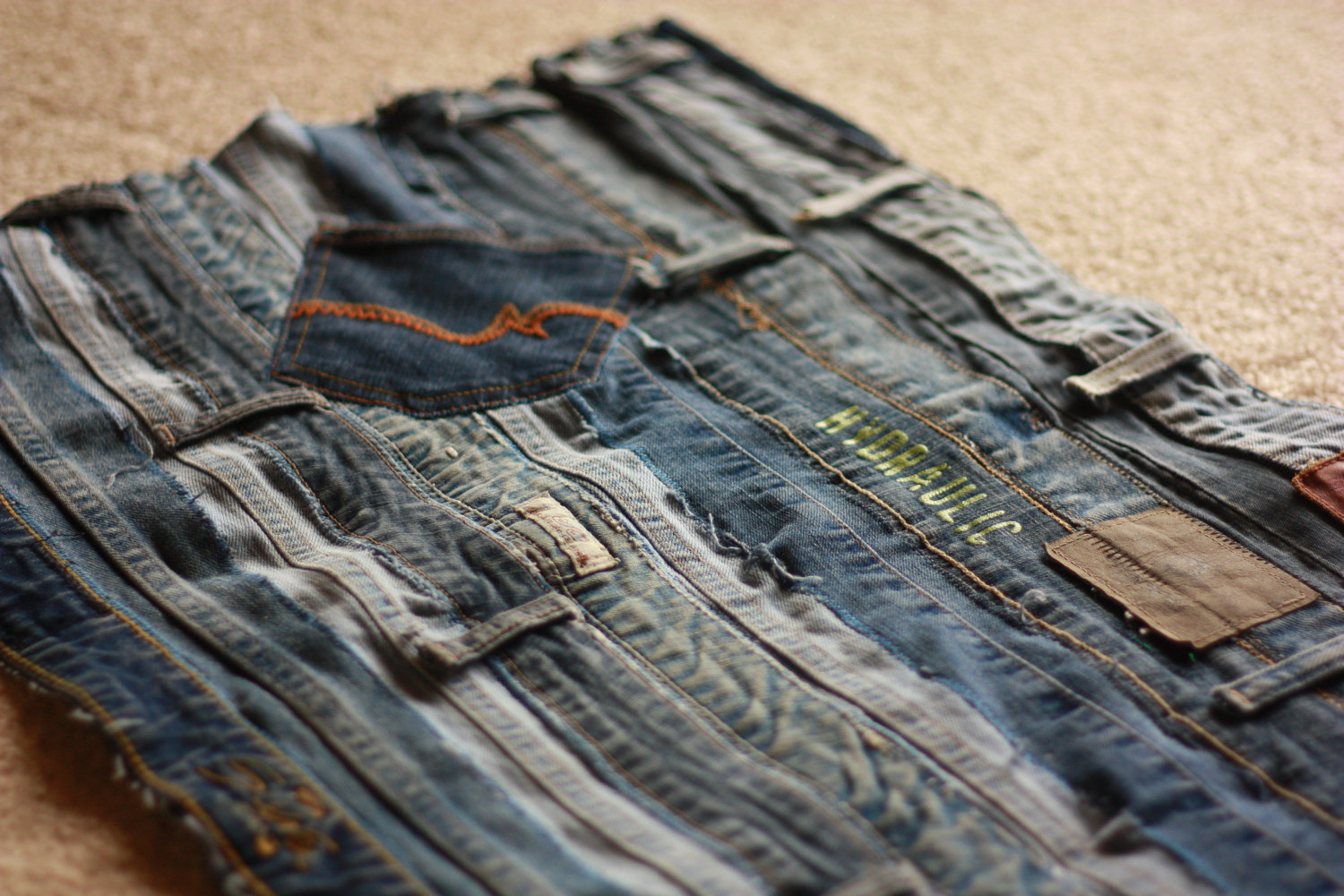 Denim rugs 221 upcycling ideas that will blow your mind for Jeans upcycling ideas