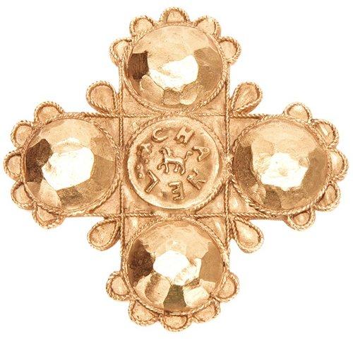 Chanel Vintage gold brooch