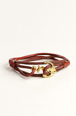 Profound Aesthetic Emancipated Soul Genuine Leather Bracelet: Brown