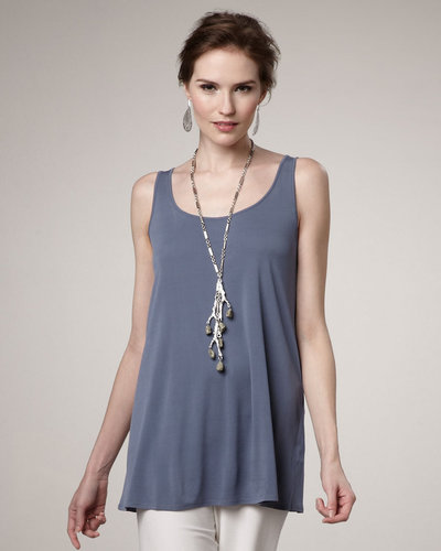 Eileen Fisher Silk-Jersey Sleeveless Tunic