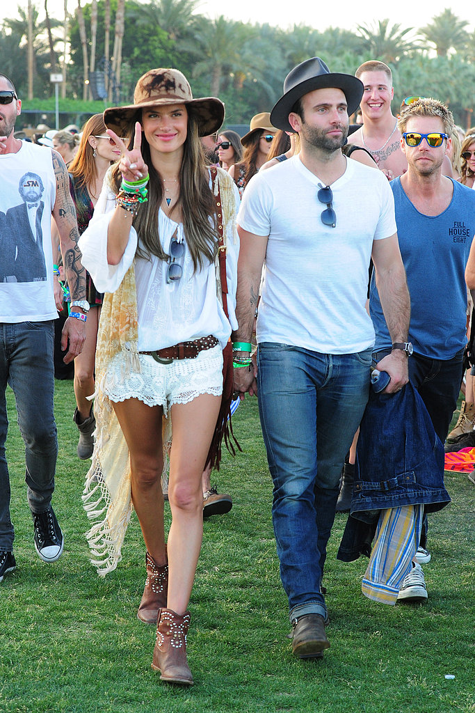 Alessandra Ambrosio and Jamie Mazur matched in white in 2013.