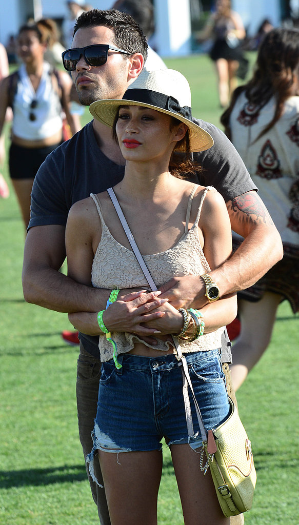 Jesse Metcalfe kept his arms wrapped around Cara Santana in 2013.