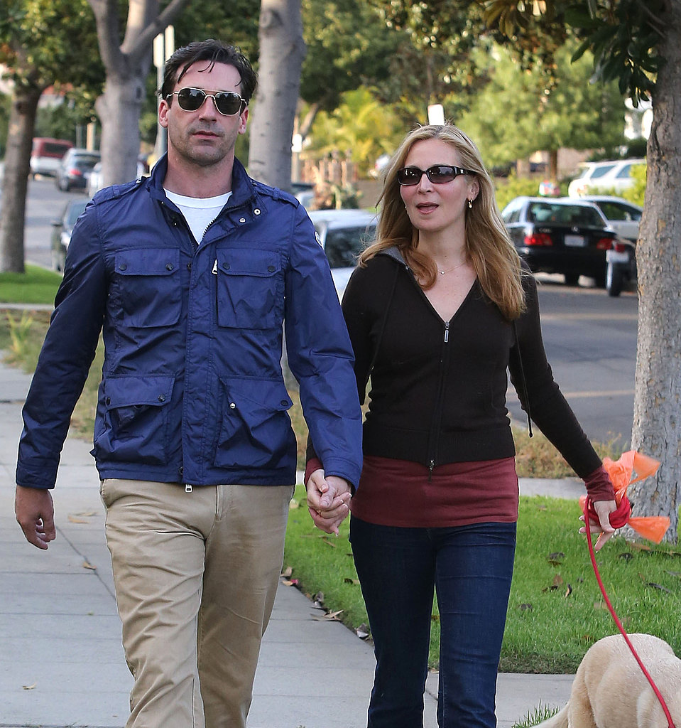 Jon and Jennifer Hang With Their Pup Ahead of Mad Men's Return