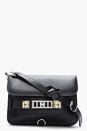 PROENZA SCHOULER Black Classic Leather PS11 Shoulder Bag
