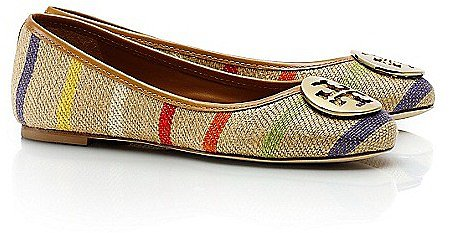 Tory Burch Striped Reva Ballet Flat
