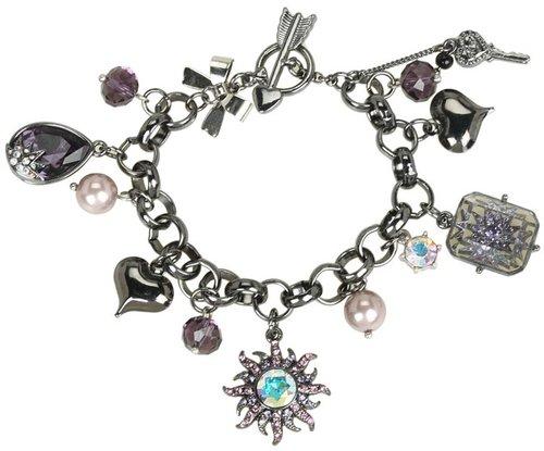 Betsey Johnson - Celestial Sun Charm Toggle Bracelet (Hematite) - Jewelry