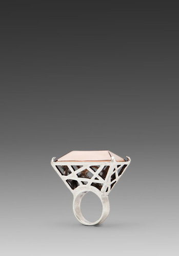 Low Luv x Erin Wasson Rose Gold Metal Cage Ring