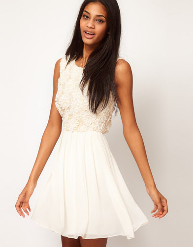 ASOS Skater Dress With Sequin and Floral Bodice