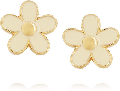 Marc by Marc Jacobs Enameled daisy earrings