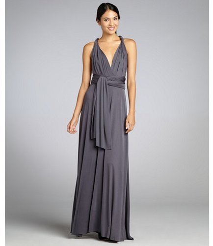 Von Vonni grey jersey 'Transformer' convertible maxi dress