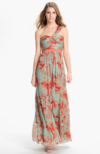 BCBGMAXAZRIA 'Inga' Print Silk Chiffon Gown