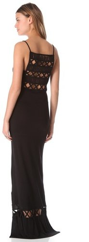 Mara hoffman Frida Lattice Cover Up Maxi Dress