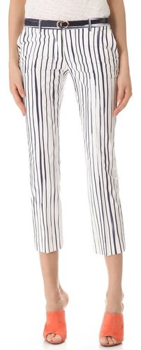 True royal Striped Straight Leg Pants