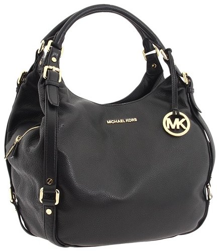 MICHAEL Michael Kors - Bedford Large Shoulder Tote (Black) - Bags and Luggage