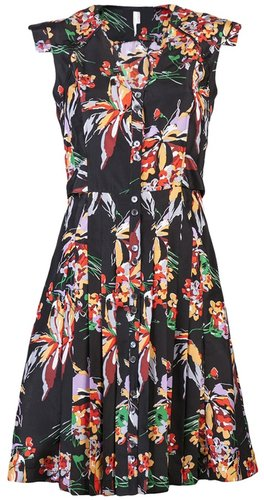 10 Crosby By Derek Lam Floral short sleeve dress