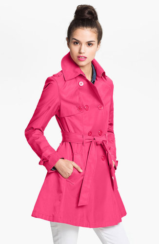 Betsey Johnson Lace-Up Back Trench Coat
