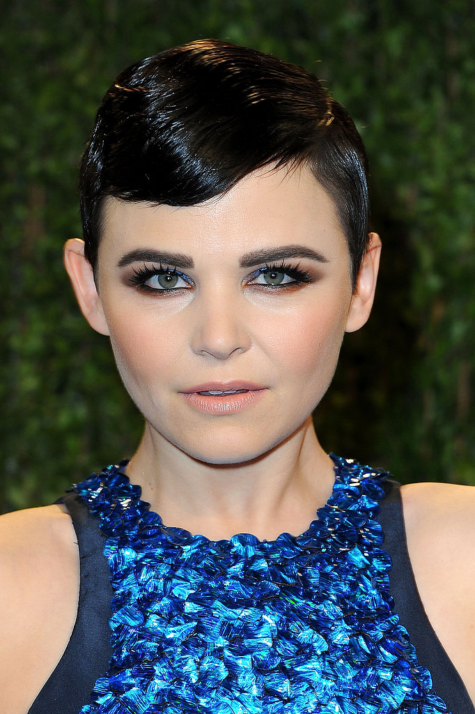Why not try this gelled-down style and couple it with smoky eyes for a dramatic evening wedding look?