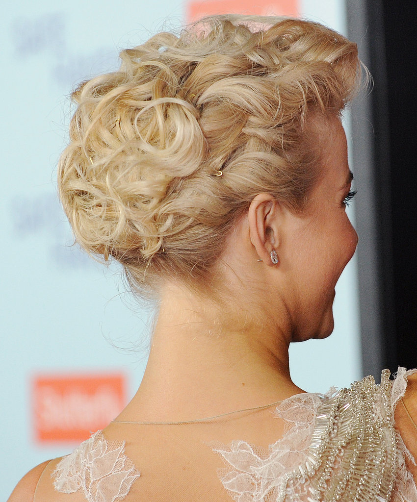 Here's a view of Julianne's pinned-back waves from the back.