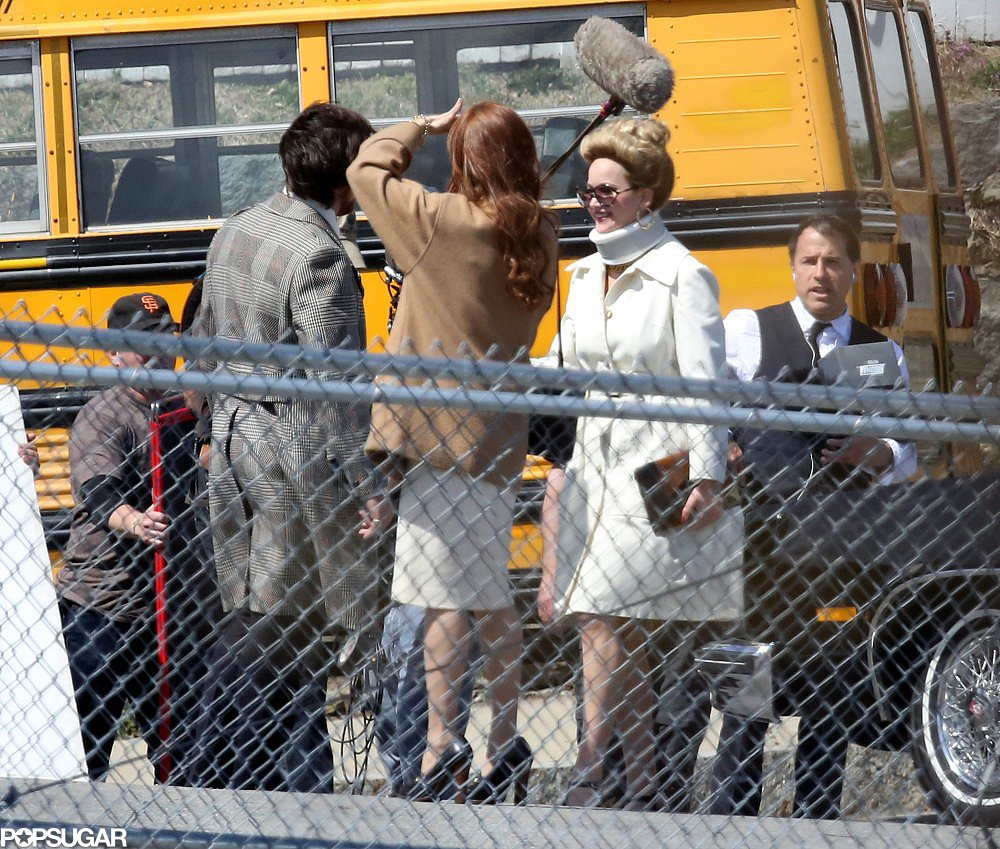 Christian Bale, Amy Adams, and Jennifer Lawrence filmed scenes for their latest David O. Russell film.