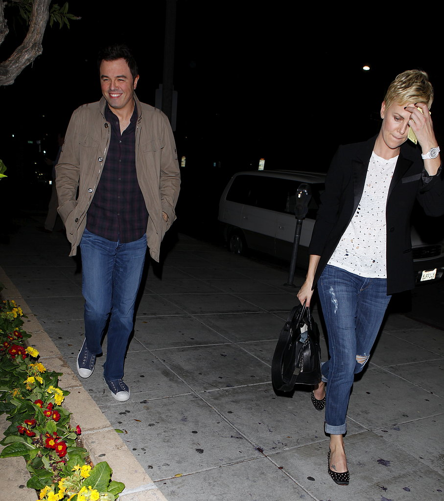 Charlize Theron and Seth MacFarlane grabbed dinner together.