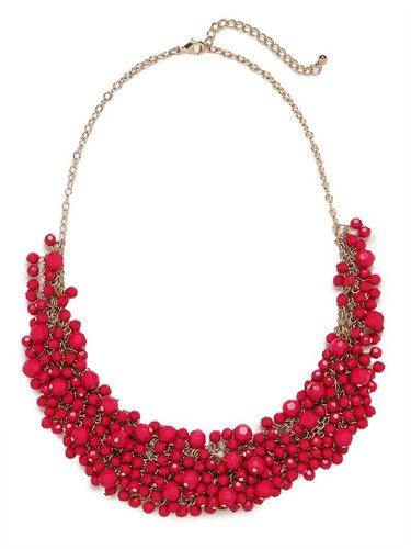 Fuchsia Gem Cluster Necklace