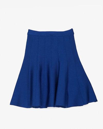 Herve Leger Exclusive Fit/flare Bandage Skirt: Cobalt