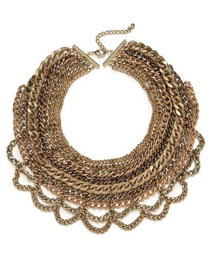 Gold Multi-Chain Bib