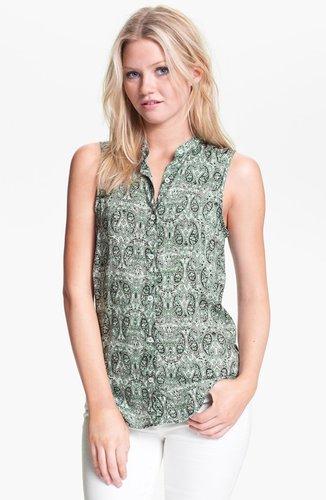 Ella Moss Tie Back Twin Print Shirt