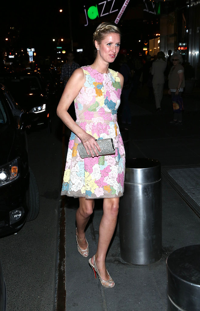 Nicky Hilton wore a floral number for the New Yorkers for Children dinner in NYC.