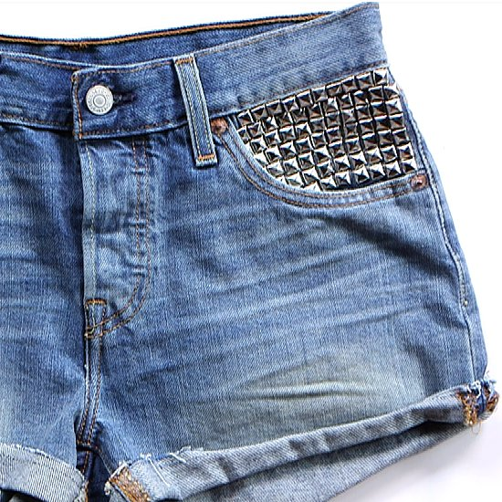 Toughen Up Your Denim Shorts With Studs — Here's How It's Done!