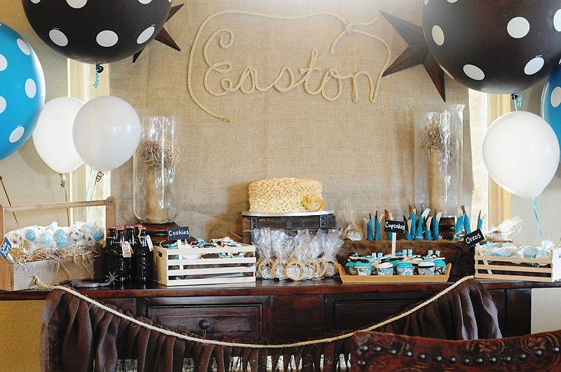 Cowboy baby shower 20 dessert tables to inspire your for Xxx en la oficina