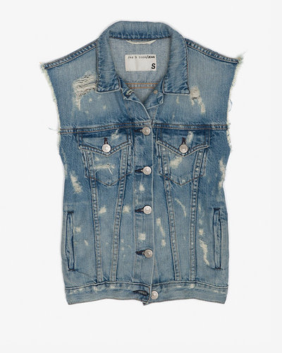 Rag & Bone/jean Rag & Bone/jean Burney Tattered Denim Vest
