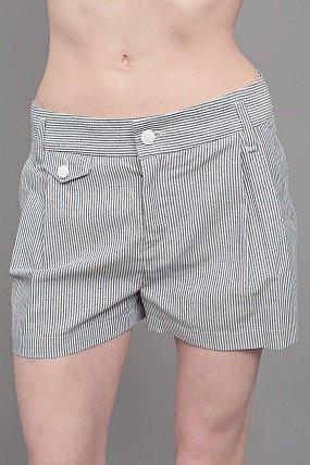 Rag & Bone Striped Tennis Shorts Indigo