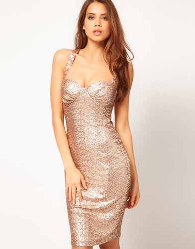 ASOS Sexy Body-Conscious Dress In Sequin