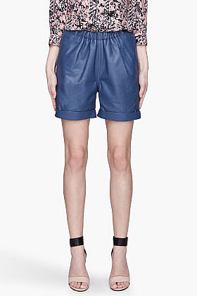 SEE BY CHLOE Blue lambskin Shorts