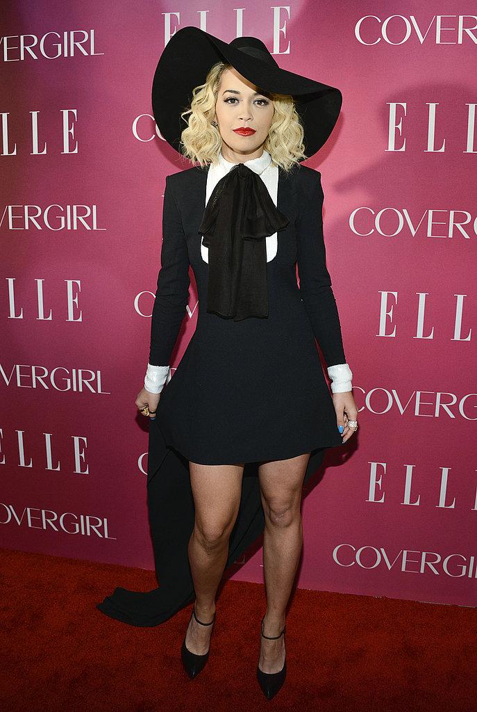 Rita Ora wore Spring 2013 Saint Laurent at the fourth annual Elle Women in Music Celebration in New York.