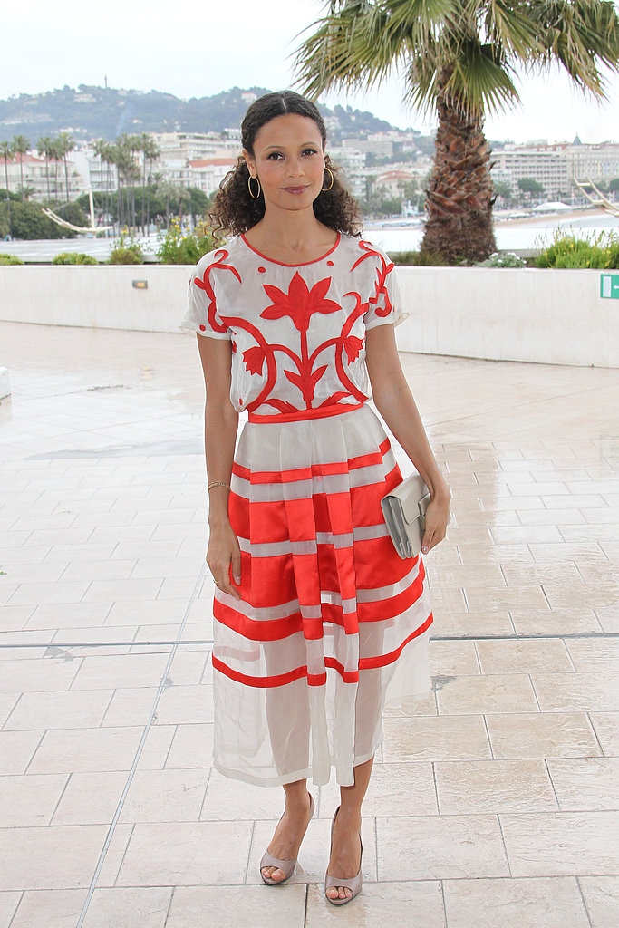Thandie Newton wore Spring 2013 Temperley London at the Rogue photocall in Cannes.