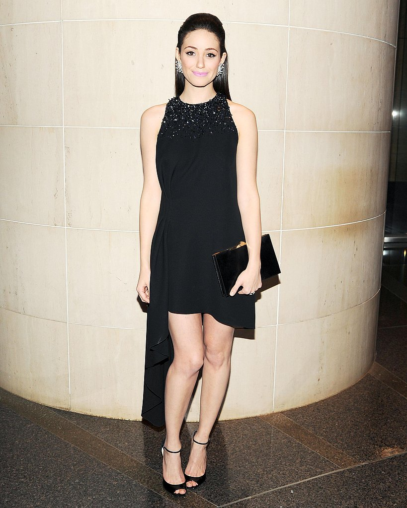 Emmy Rossum wore Dior at the New Yorkers For Children 10th Anniversary Spring Dinner Dance in New York. Photo: Billy Farrell/BFAnyc.com